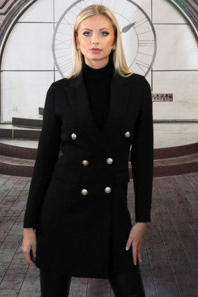 Black fitted chic jacket